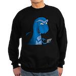T-Rex Texting Sweatshirt (dark)