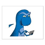T-Rex Texting Small Poster
