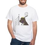 T-Rex Volleyball White T-Shirt