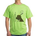 T-Rex Volleyball Green T-Shirt
