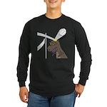 T-Rex Volleyball Long Sleeve Dark T-Shirt
