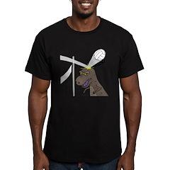 T-Rex Volleyball Men's Fitted T-Shirt (dark)