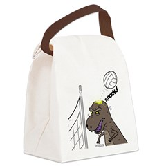 T-Rex Volleyball Canvas Lunch Bag