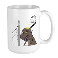 T-Rex Volleyball Large Mug