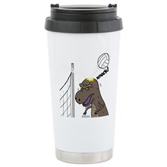 T-Rex Volleyball Stainless Steel Travel Mug