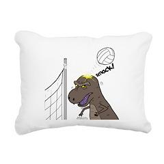T-Rex Volleyball Rectangular Canvas Pillow
