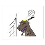 T-Rex Volleyball Small Poster