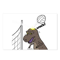 T-Rex Volleyball Postcards (Package of 8)