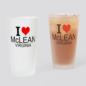 I Love McLean Virginia Drinking Glass