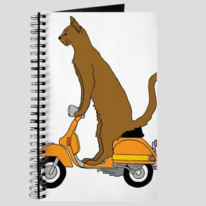 Cat On Motor Scooter Journal
