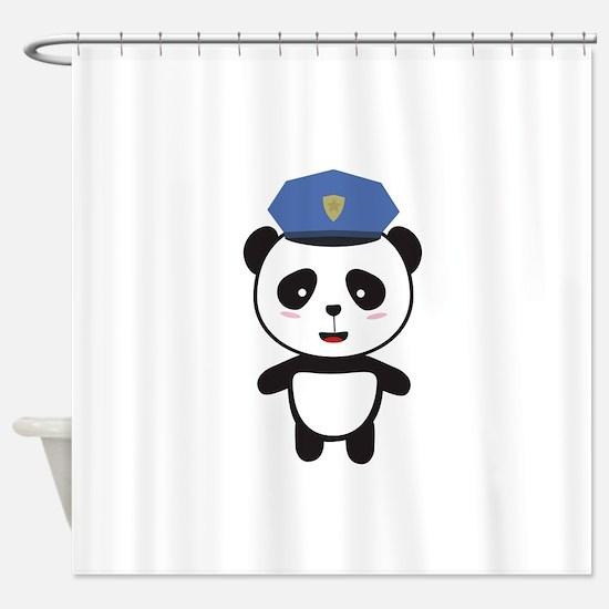 Panda Police Officer Shower Curtain