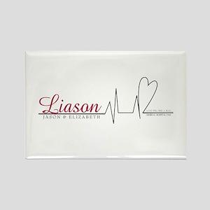 Liason Heartline Rectangle Magnet
