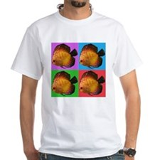 Colorful Popart Fish White T-Shirt