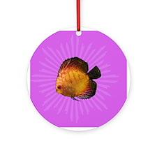 Colorful Popart Fish Ornament (Round)