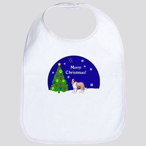 St Bernard Christmas Bib