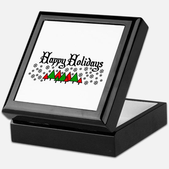 Happy Holidays Keepsake Box