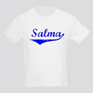 Salma Vintage (Blue) Kids Light T-Shirt