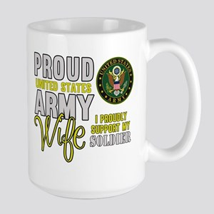 Proud Army WIfe Supporting Mugs