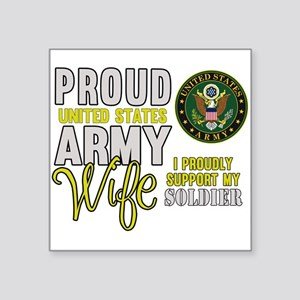 Proud Army WIfe Supporting Sticker