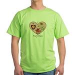 I Love Daylilies Green T-Shirt