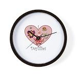 I Love Daylilies Wall Clock