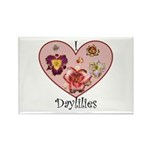I Love Daylilies Rectangle Magnet (100 pack)