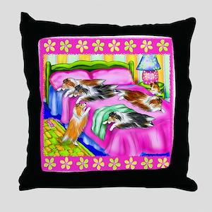 Sheltie Pink Comfort Throw Pillow