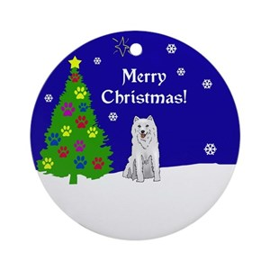 siberian husky christmas ornaments cafepress - Husky Christmas Decoration