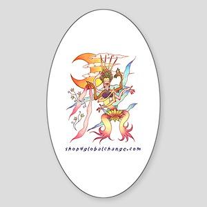 mermaid dance Oval Sticker