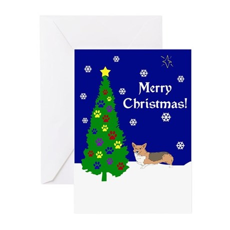 Welsh Corgi Christmas Greeting Cards (Pk of 20)
