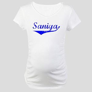 Saniya Vintage (Blue) Maternity T-Shirt