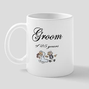 25th Wedding Anniversary Groom Gifts Mug