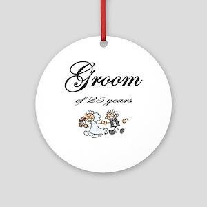 25th Wedding Anniversary Groom Gifts Ornament (Rou