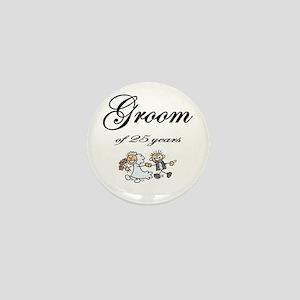25th Wedding Anniversary Groom Gifts Mini Button