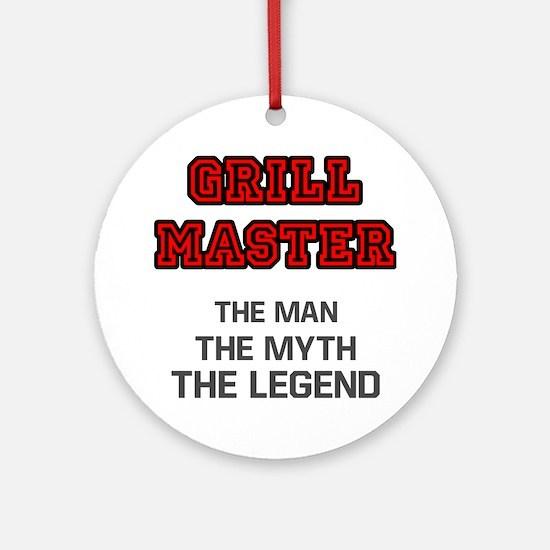 Grill Master Round Ornament