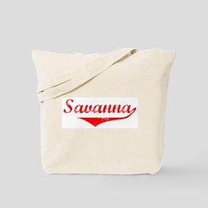 Savanna Vintage (Red) Tote Bag
