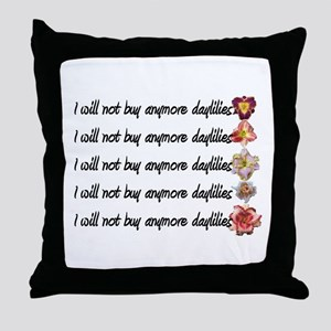 No More Daylilies Throw Pillow