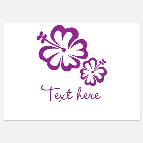 Custom Flower Design Invitations