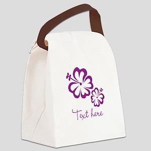 Custom Flower Design Canvas Lunch Bag