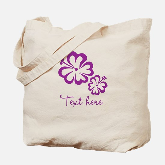 Custom Flower Design Tote Bag
