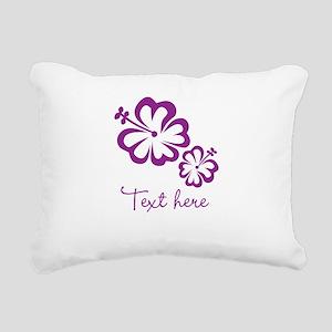 Custom Flower Design Rectangular Canvas Pillow