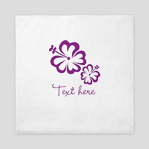 Custom Flower Design Queen Duvet