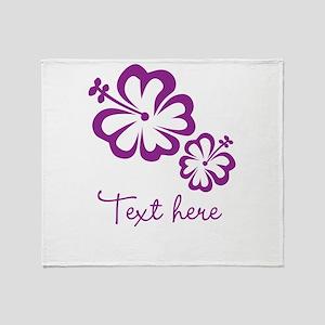 Custom Flower Design Throw Blanket