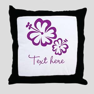 Custom Flower Design Throw Pillow