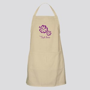 Custom Flower Design Apron