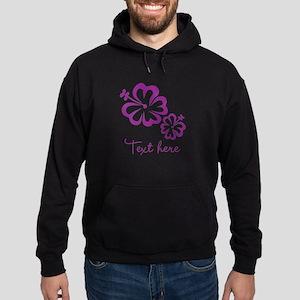 Custom Flower Design Hoodie