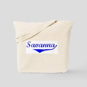 Savanna Vintage (Blue) Tote Bag