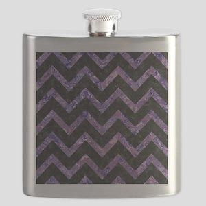CHEVRON9 BLACK MARBLE & PURPLE MARBLE Flask