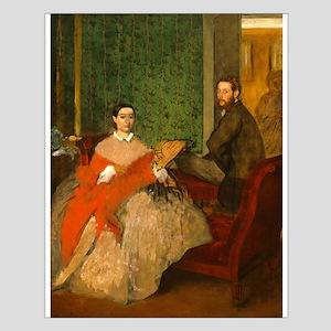 Edmondo and Thérèse Morbilli by Edgar Degas Poster