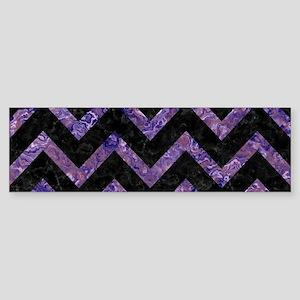 CHEVRON9 BLACK MARBLE & PURPLE MA Sticker (Bumper)